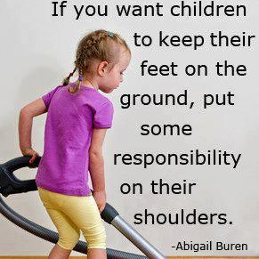 Children MUST have Responsibilities at home!