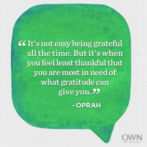 Gratefulness is the way to go!