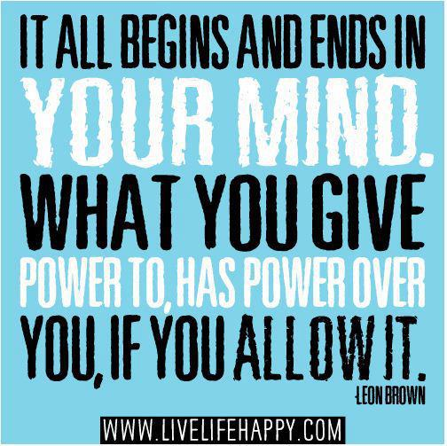 It ALL Begins & Ends in Your Mind!