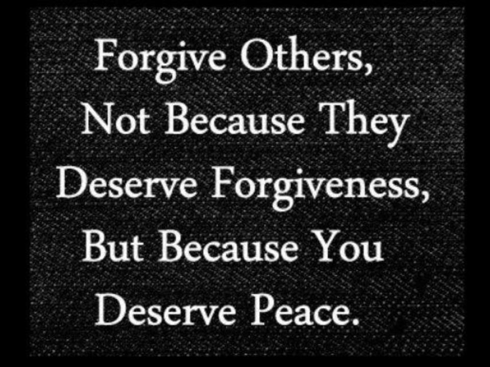 You + Forgiveness = Peace