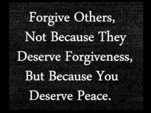 You + Forgiveness = Peace