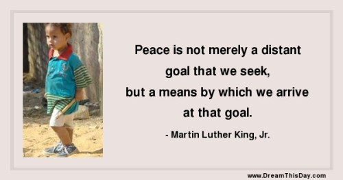 Peace begins with YOU!