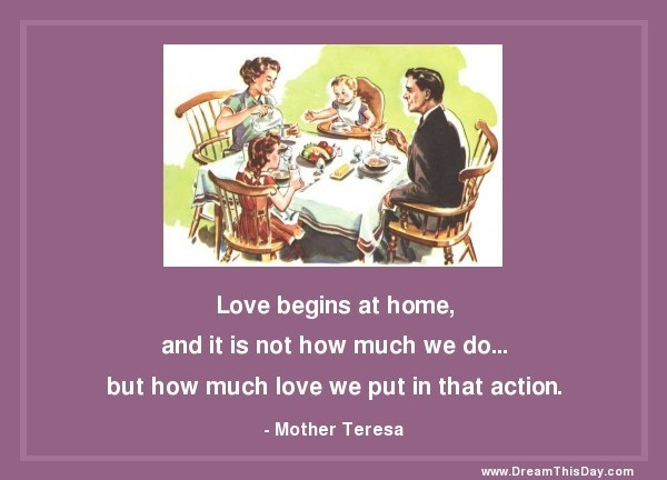 LOVE begins at home!